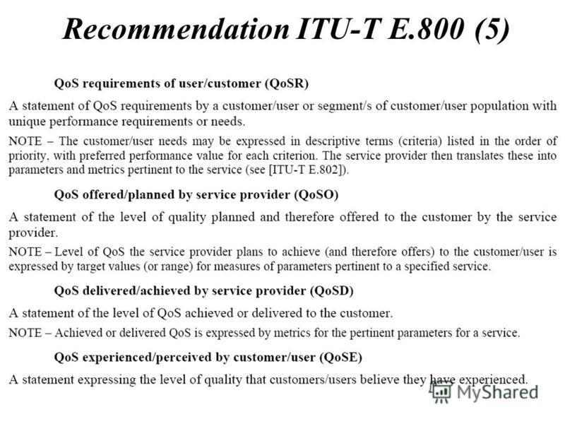Recommendation ITU-T E.800 (5)