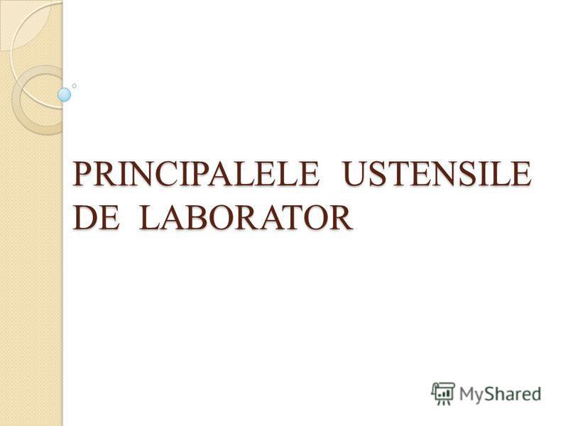 PRINCIPALELE USTENSILE DE LABORATOR