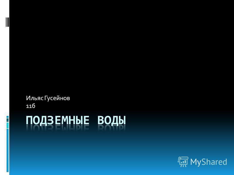 Ильяс Гусейнов 11 б
