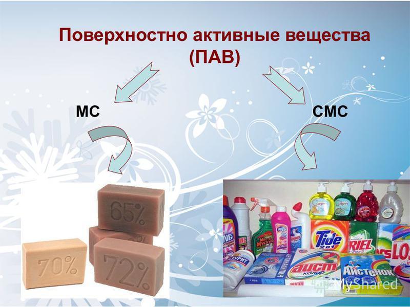 Поверхностно активные вещества (ПАВ) МС СМС