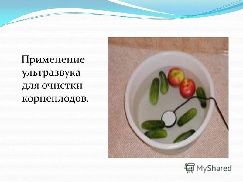 Применение ультразвука для очистки корнеплодов.