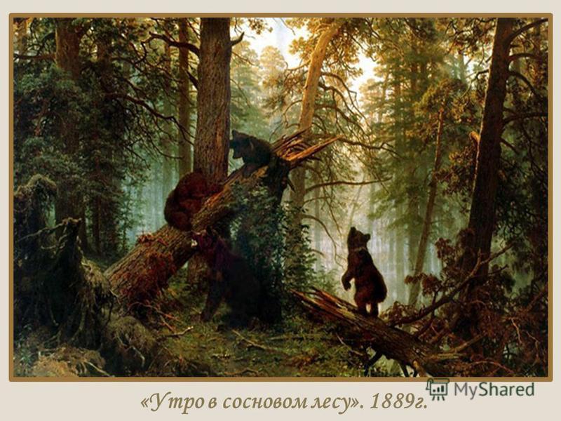 «Утро в сосновом лесу». 1889 г.