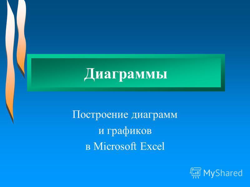 Диаграммы Построение диаграмм и графиков в Microsoft Excel