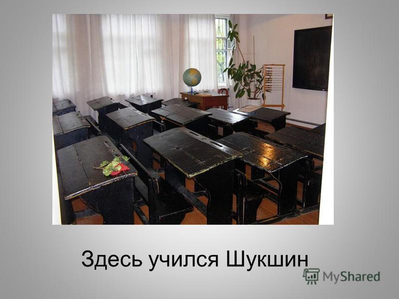 Здесь учился Шукшин