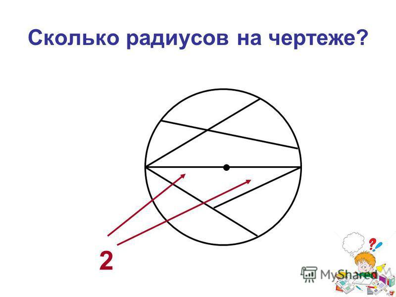 Сколько радиусов на чертеже? 2