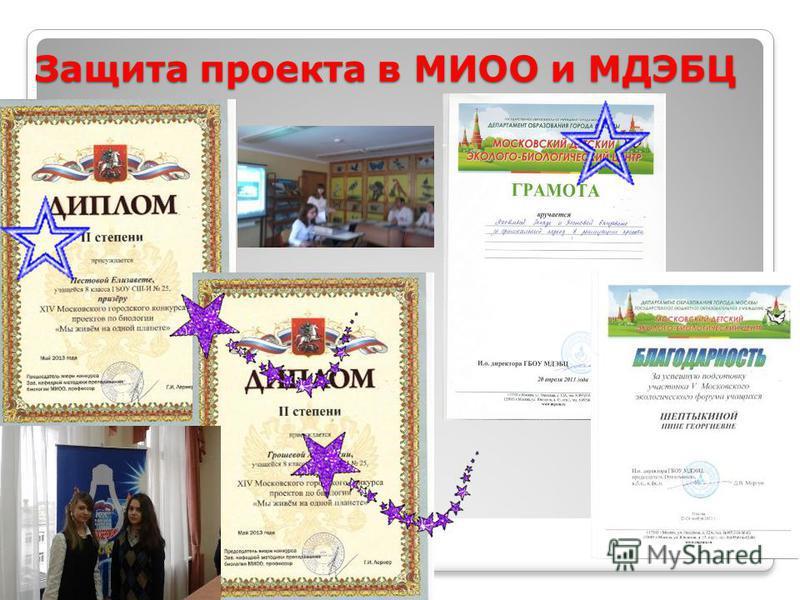Защита проекта в МИОО и МДЭБЦ