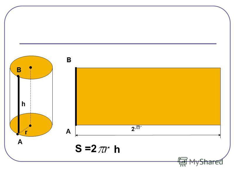 А А В В h r S =2 h 2