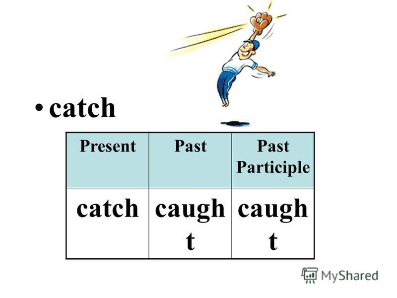 catch PresentPastPast Participle catchcaugh t