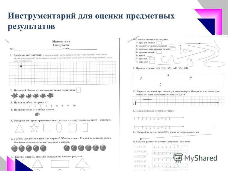 Инструментарий для оценки предметных результатов 47
