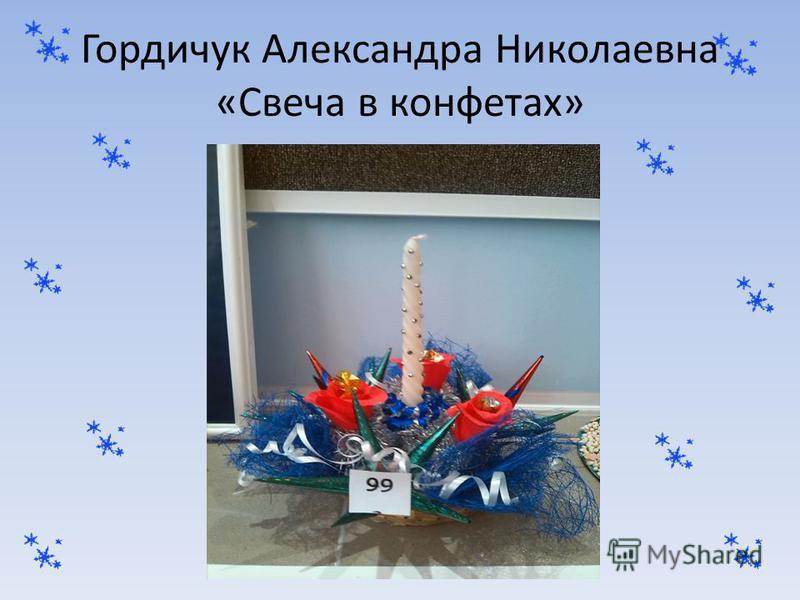 Гордичук Александра Николаевна «Свеча в конфетах»