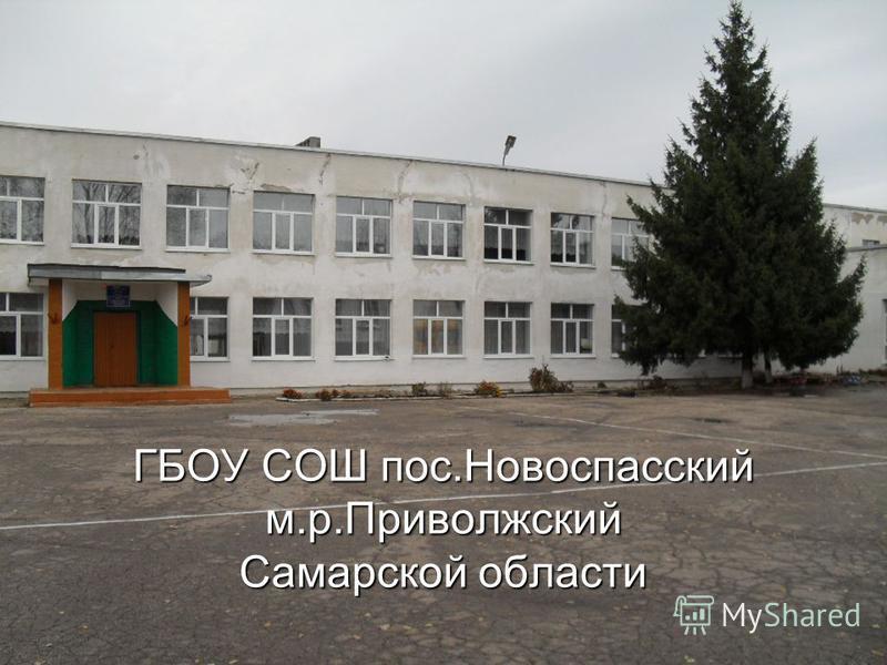 ГБОУ СОШ пос.Новоспасский м.р.Приволжский Самарской области