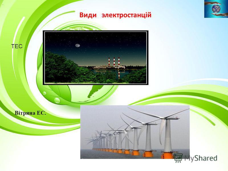 Види электростанцій ТЕС. Вітряна ЕС.