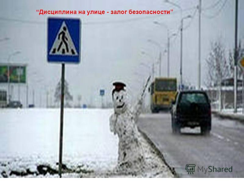 Дисциплина на улице - залог безопасности