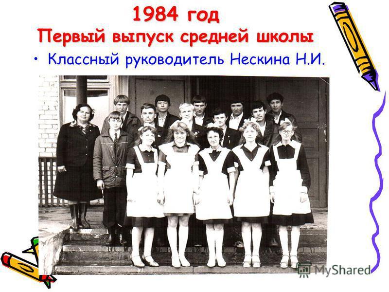 1977 – 2007 г.г. С 1977 года по 1982 год школа оставалось восьмилетней.С 1977 года по 1982 год школа оставалось восьмилетней. В 1982 году школа стала средней десятилетней школой.В 1982 году школа стала средней десятилетней школой. Первый выпуск средн
