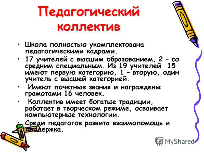 Коллектив школы 01.10.2007 г.