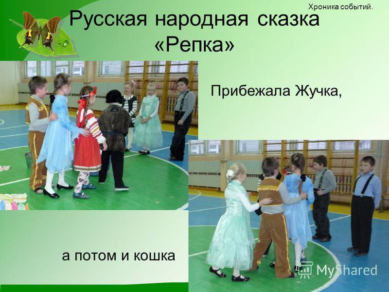 Русская народная сказка «Репка» Прибежала Жучка, Хроника событий. а потом и кошка