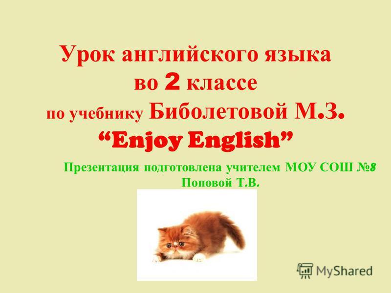 Enjoy english 2 класс программа скачать