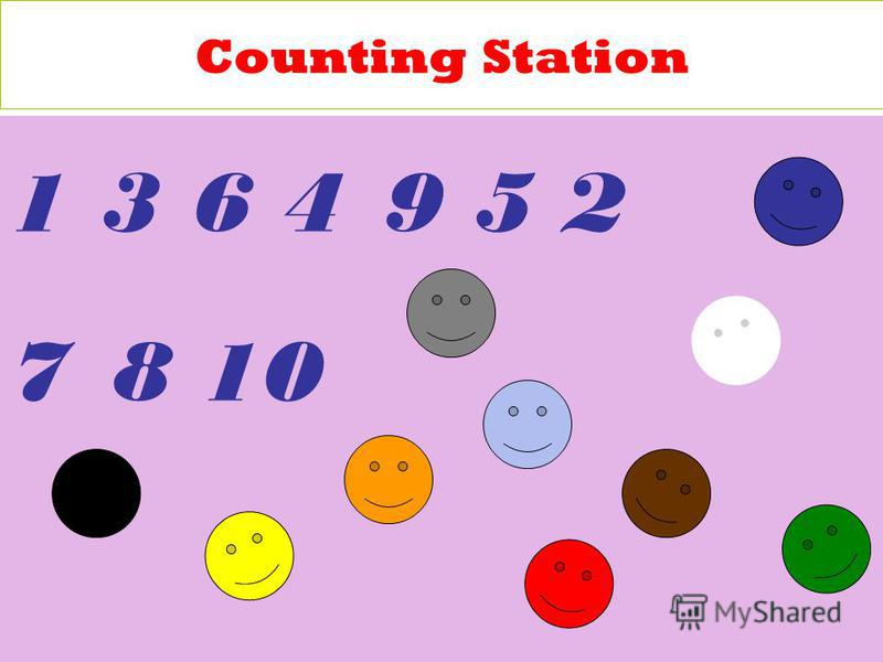 Counting Station 1 3 6 4 9 5 2 7 8 10