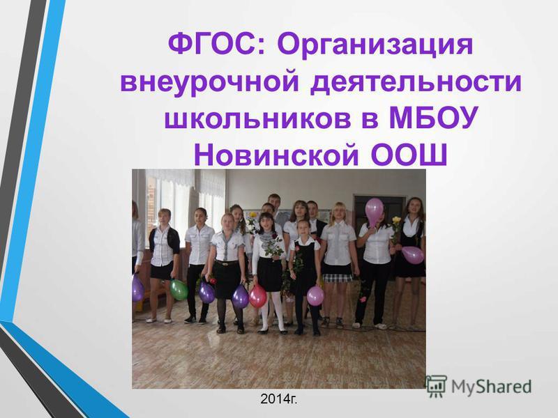 ФГОС: Организация внеурочной деятельности школьников в МБОУ Новинской ООШ 2014 г.