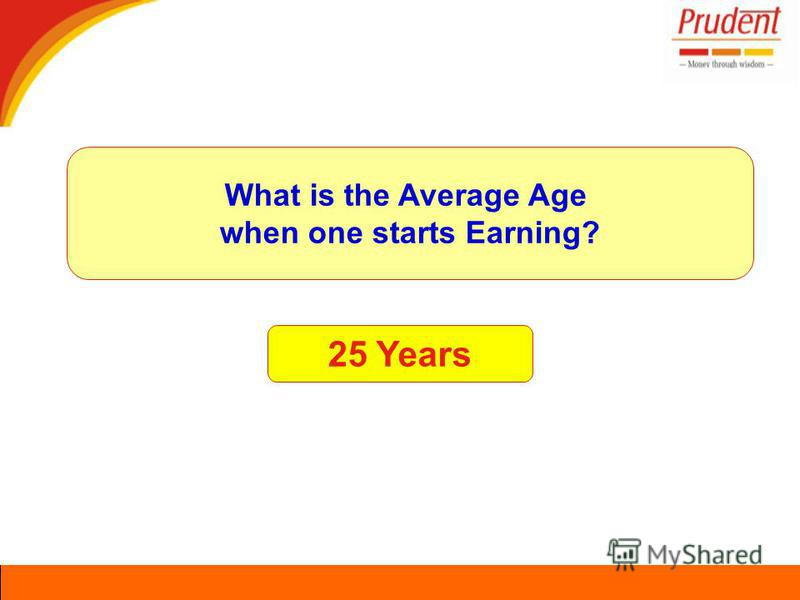 25 Years What is the Average Age when one starts Earning?
