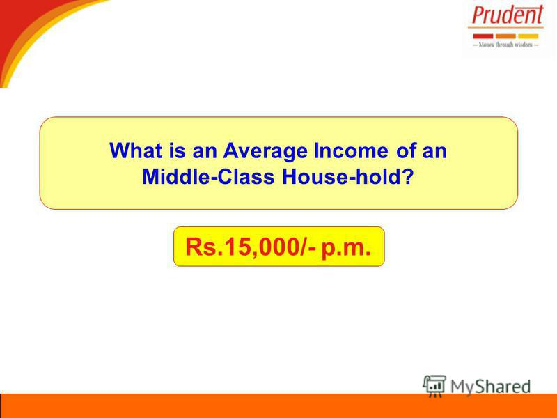 Rs.15,000/- p.m. What is an Average Income of an Middle-Class House-hold?
