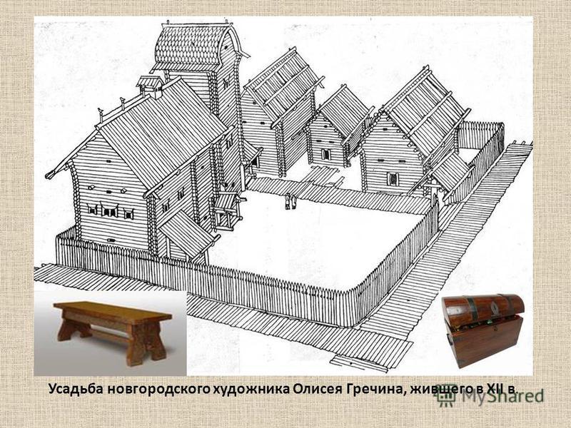 Усадьба новгородского художника Олисея Гречина, жившего в XII в.