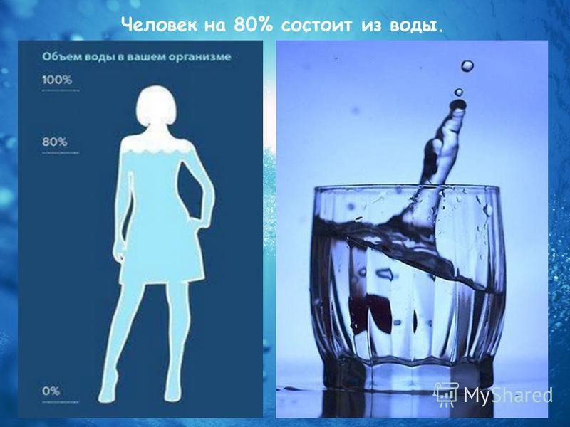 Человек на 80% состоит из воды.