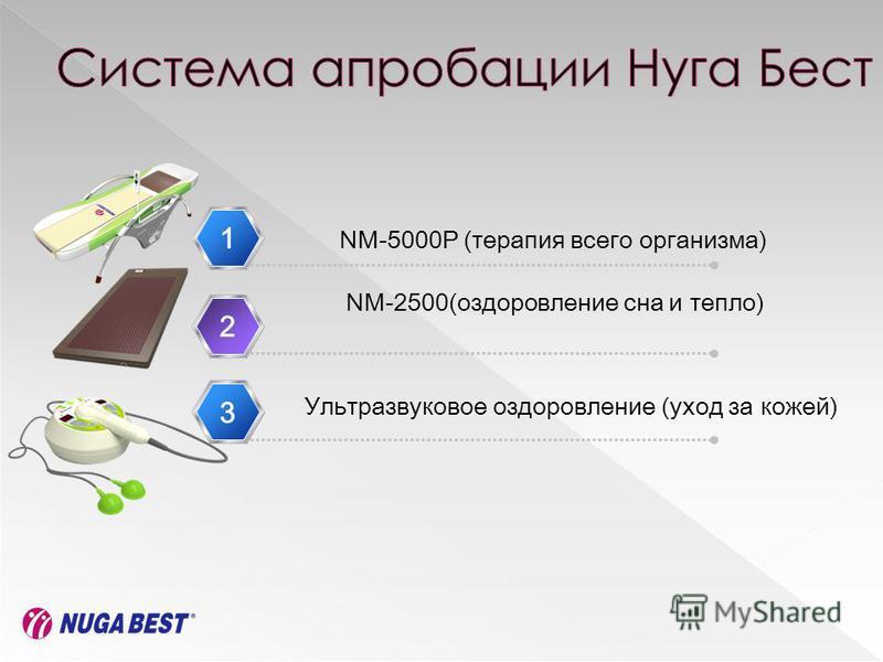 1 NM-2500(оздоровление сна и тепло) 2 NM-5000P (терапия всего организма) Ультразвуковое оздоровление (уход за кожей) 33