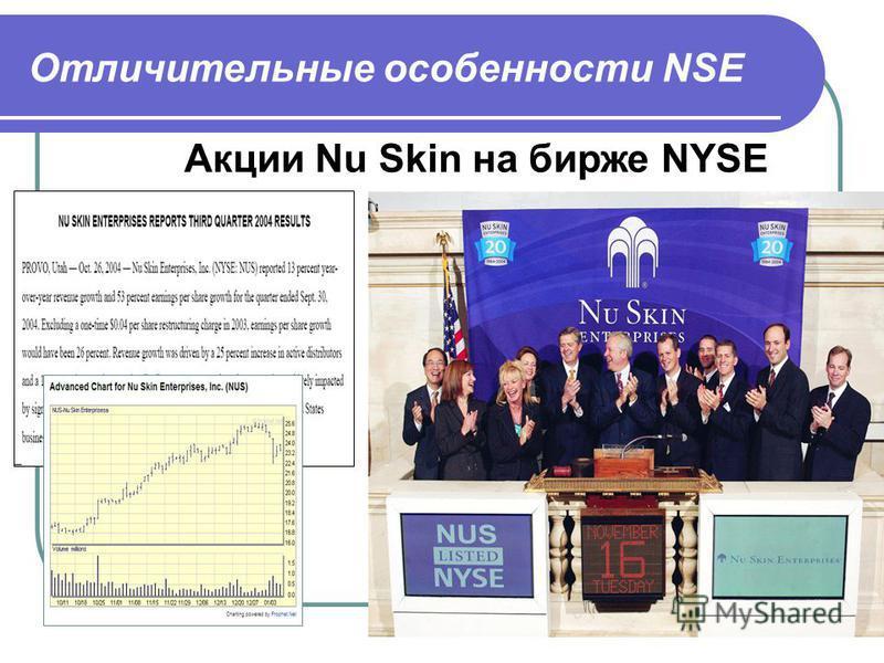 Акции Nu Skin на бирже NYSE Отличительные особенности NSE
