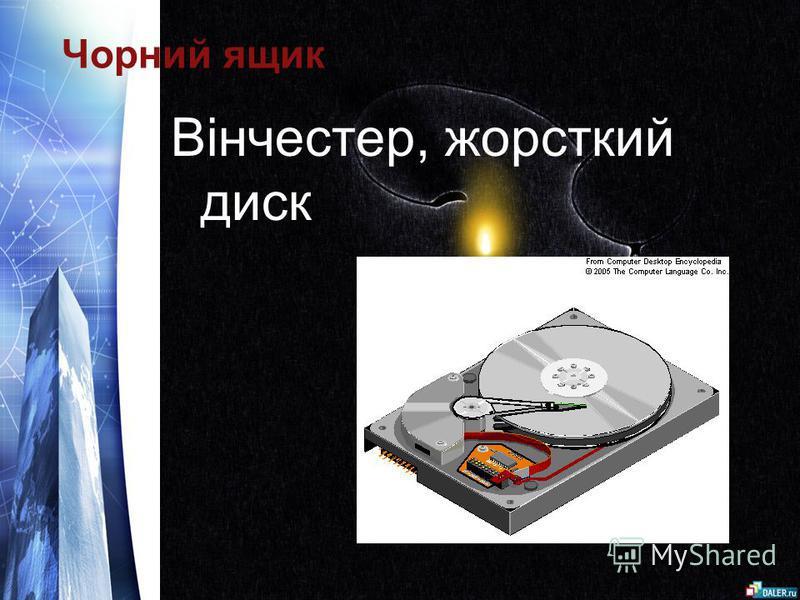 Чорний ящик Вінчестер, жорсткий диск