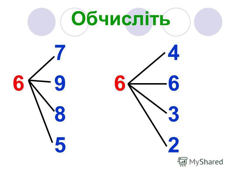 Обчисліть 7 4 6 9 6 6 8 3 5 2