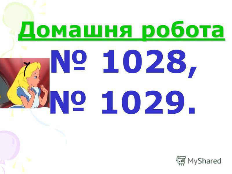 Домашня робота 1028, 1029.