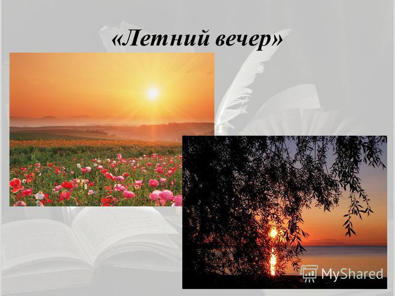 «Летний вечер»