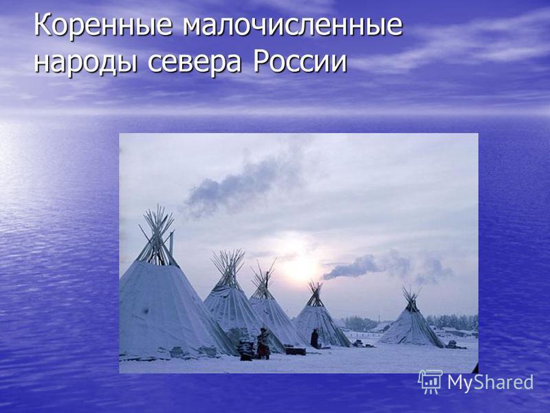 Коренные малочисленные народы севера России Коренные малочисленные народы севера России