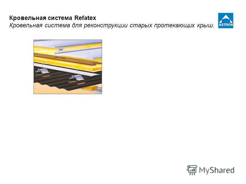 Кровельная система Refatex Кровельная система для реконструкции старых протекающих крыш.