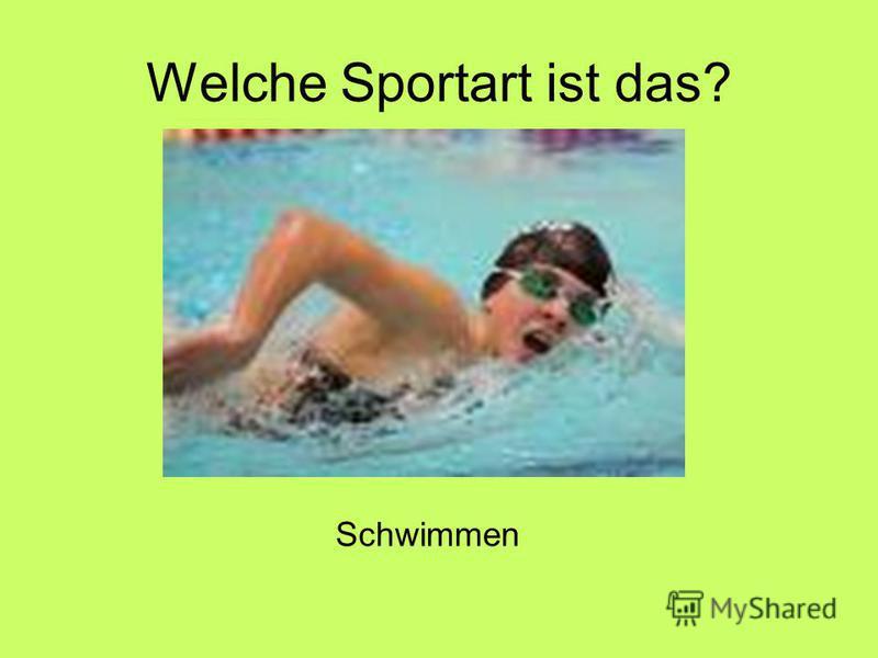 Welche Sportart ist das? Schwimmen