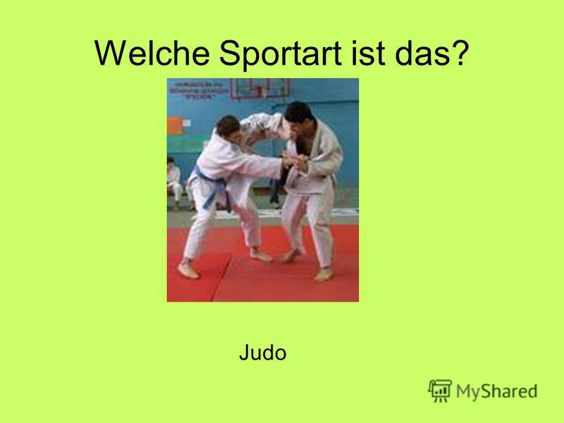 Welche Sportart ist das? Judo