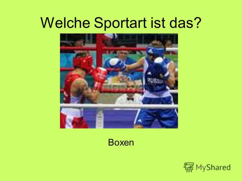 Welche Sportart ist das? Boxen