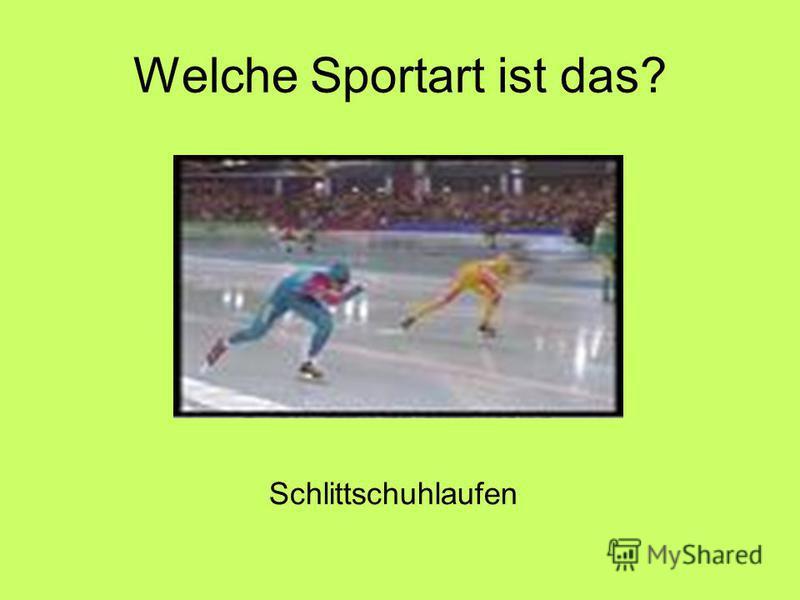 Welche Sportart ist das? Schlittschuhlaufen