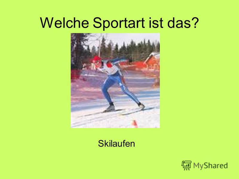 Welche Sportart ist das? Skilaufen