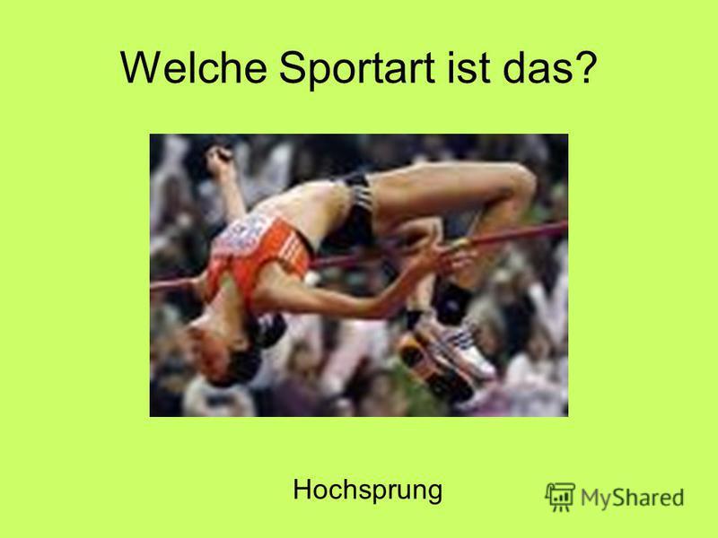 Welche Sportart ist das? Hochsprung