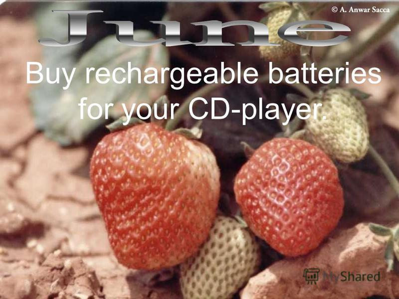 Buy rechargeable batteries for your CD-player.