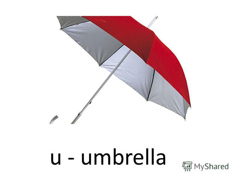 u - umbrella