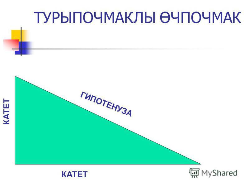 ГИПОТЕНУЗА КАТЕТ