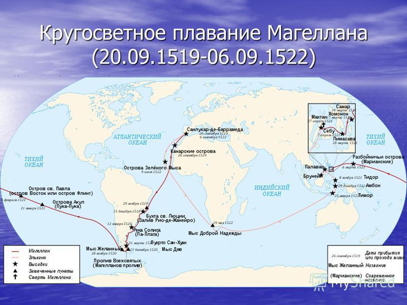 Кругосветное плавание Магеллана (20.09.1519-06.09.1522)