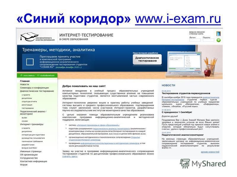 «Синий коридор» www.i-exam.ru 59