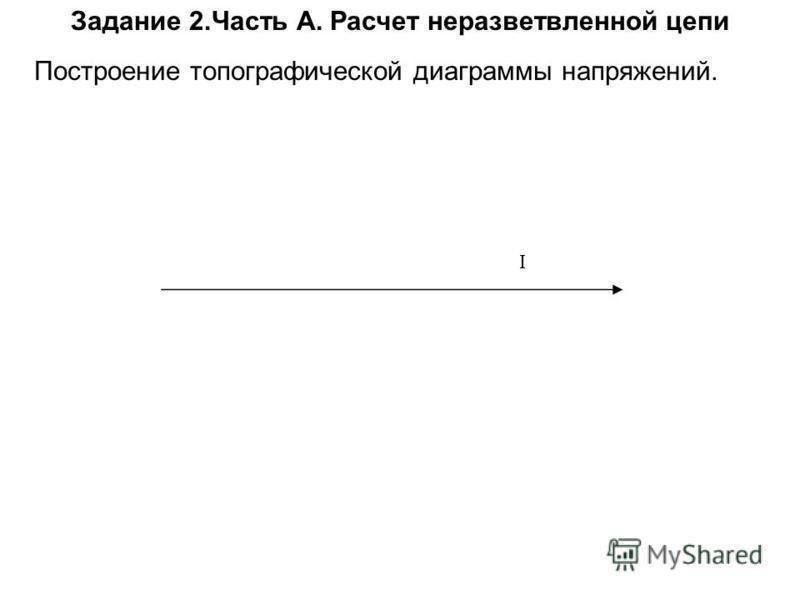 Задание 2. Часть А. Расчет неразветвленной цепи Построение топографической диаграммы напряжений.