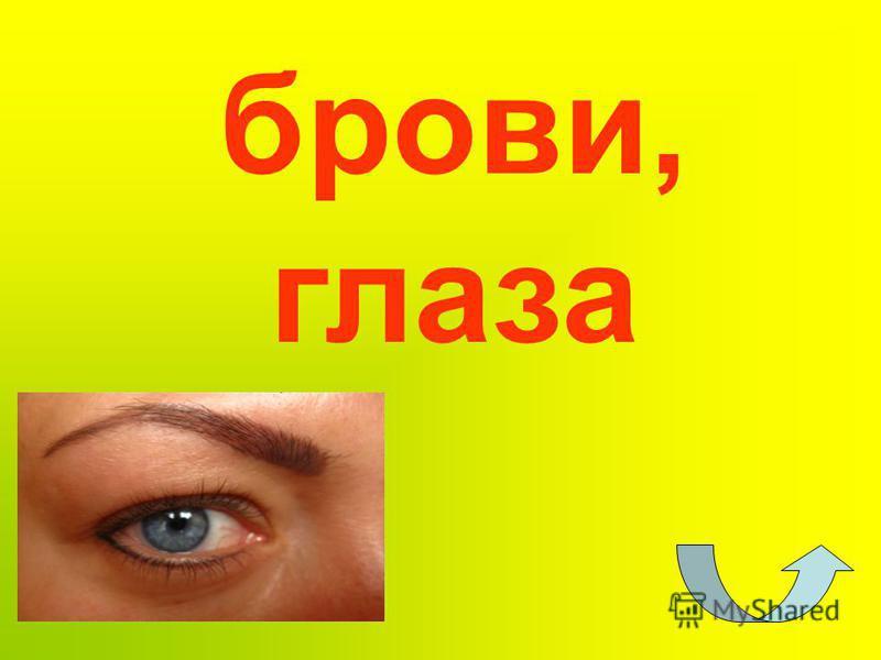 брови, глаза