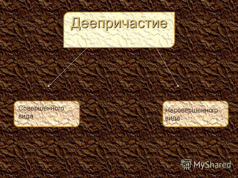 Совершенного вида Несовершенного вида Деепричастиле