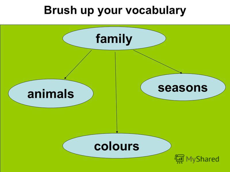 Brush up your vocabulary family animals seasons colours